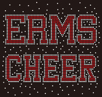 ERMS Cheer Splatter - Custom Rhinestone Transfer