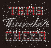 THMS Thunder Cheer Splatter - Custom Rhinestone Transfer