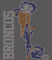 Bronco Betty Boob - Custom Rhinestone Transfer