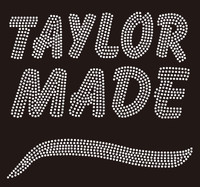 (Balance for 25 Qty @9.99/pc) TAYLOR MADE custom Rhinestone Transfer