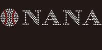 (9x1.7) Baseball  Nana custom McCabe Rhinestone Transfer