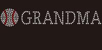 (9x1.7) Baseball  Grandma custom Rhinestone Transfer