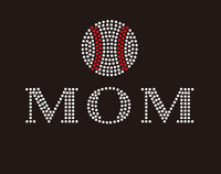 Baseball  Mom (2 lines) custom Rhinestone Transfer