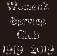 (New) Women's Service Club 1919-2019 custom Rhinestone Transfer
