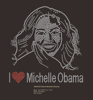 I Love Michelle Obama custom Rhinestone Transfer