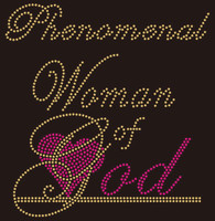 Phenomenal  Woman of God  Rhinestone Transfer