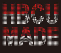 HBCU MADE (Red clear Delta) custom Rhinestone Transfer