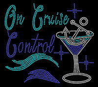 On Cruise Control Anchor in glass custom Rhinestone Transfer