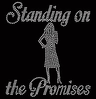 Standing on the Promises Girl standing custom Rhinestone Transfer