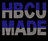 HBCU MADE (Blue Clear Zeta) custom Rhinestone Transfer