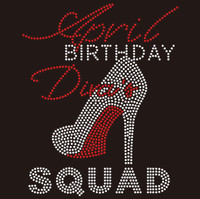 April Birthday Diva Squad - Custom Rhinestone Transfer