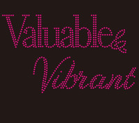 (25 Qty+ 2 FREE) Valuable & Vibrant custom Rhinestone Transfer