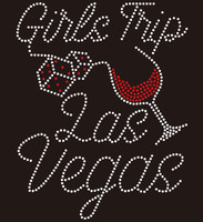 Girl Trip Las Vegas wine glass custom Rhinestone Transfer