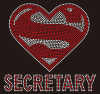 Super Secretary custom Rhinestone Transfer