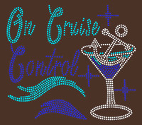 (Vinyl transfer) On Cruise Control Wine glass custom Vinyl Transfer