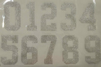 "(any 2 numbers) 5"" Sports Number Rhinestone Transfer"