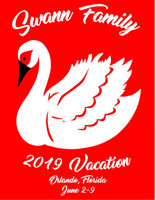 (Vinyl Transfer) Swann Family 2019 Vacation Custom