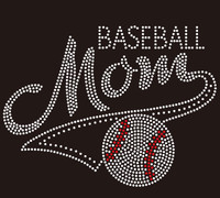 Baseball Mom Mascot McCabe Rhinestone Transfer