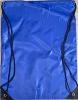 "Drawstring Nylon Tote Bag 16""W x 15""H x 2.5""D (Blue)"