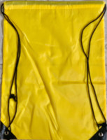 "Drawstring Nylon Tote Bag 16""W x 15""H x 2.5""D (Yellow)"