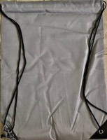 "Drawstring Nylon Tote Bag 16""W x 15""H x 2.5""D (Grey)"