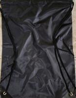"Drawstring Nylon Tote Bags 16""W x 15""H x 2.5""D (Black)"