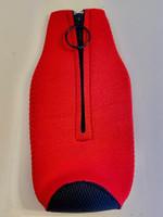 Zipper Beer Bottle Koozie (Red)