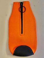 Zipper Beer Bottle Koozie (Orange)