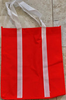 """Two Tone Tote Bag (Red) 12.4""""W x 14""""H x 8.7""""D"""