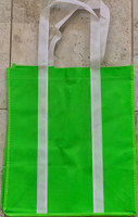 "Two Tone Tote Bag (Green) 12.4""W x 14""H x 8.7""D"