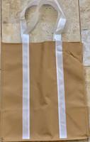 """Two Tone Tote Bag (Khaki) 12.4""""W x 14""""H x 8.7""""D"""