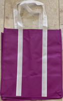 "Two Tone Tote Bag (Purple) 12.4""W x 14""H x 8.7""D"