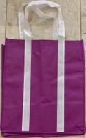 """Two Tone Tote Bag (Purple) 12.4""""W x 14""""H x 8.7""""D"""