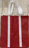 "Two Tone Tote Bag (Burgundy) 12.4""W x 14""H x 8.7""D"