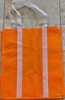 """Two Tone Tote Bag (Orange) 12.4""""W x 14""""H x 8.7""""D"""