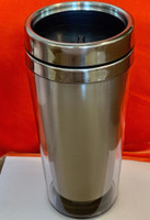Double wall Travel Mug Tumbler (Inner Stainless Steel, outer transparent shell)