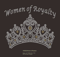 Women of Royalty Crown custom Rhinestone Transfer