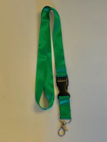 Lanyard double clip safety break away (Green)