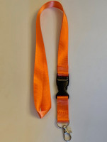 Lanyard double clip safety break away (Orange)