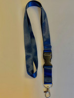Lanyard double clip safety break away (Navy Blue)