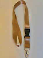 Lanyard double clip safety break away (Brown)