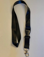 Lanyard double clip safety break away (Black)
