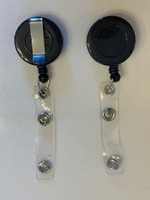 Retractable ID Badge Reel Holder (Black)