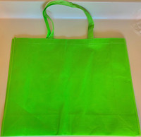 "Large Tote Bag (Green) 20""W x 16""H x 6""D"