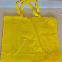 "Large Tote Bag (Yellow) 20""W x 16""H x 6""D"