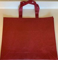 "Large Tote Bag (Burgundy) 20""W x 16""H x 6""D"