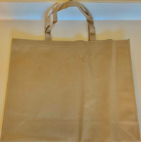 "Large Tote Bag (Khaki) 20""W x 16""H x 6""D"
