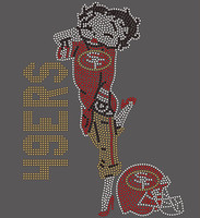 49ers Betty Boop custom Rhinestone Transfer