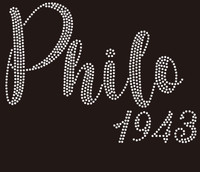 Philo 1943 - custom Rhinestone Transfer