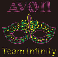 (New) AVON Mask Team Infinity - custom Rhinestone Transfer